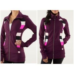 Lululemon 2 nice asana plum jacket